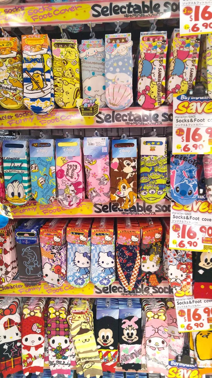 Don Quijote Socks in Singapore.