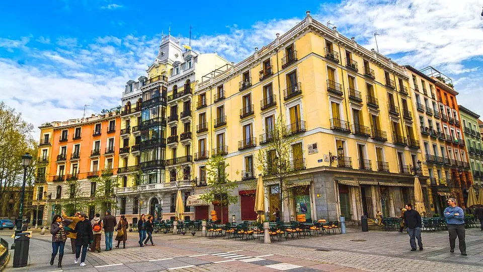 Madrid Streets and cafe.