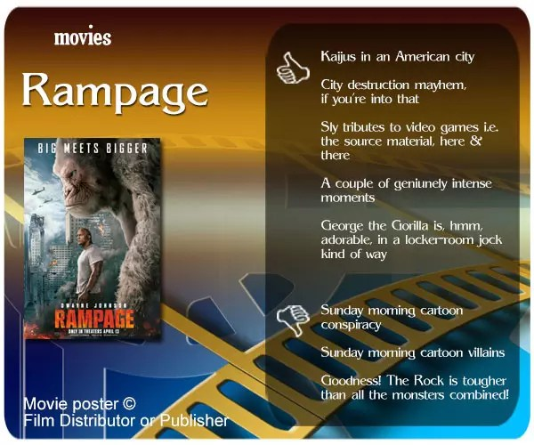 Rampage (2018 Film) review - 5 thumbs up and 3 thumbs down.