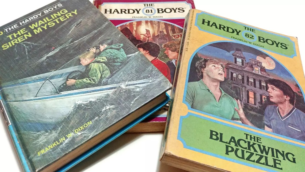 The Hardy Boys books from the 1980s.