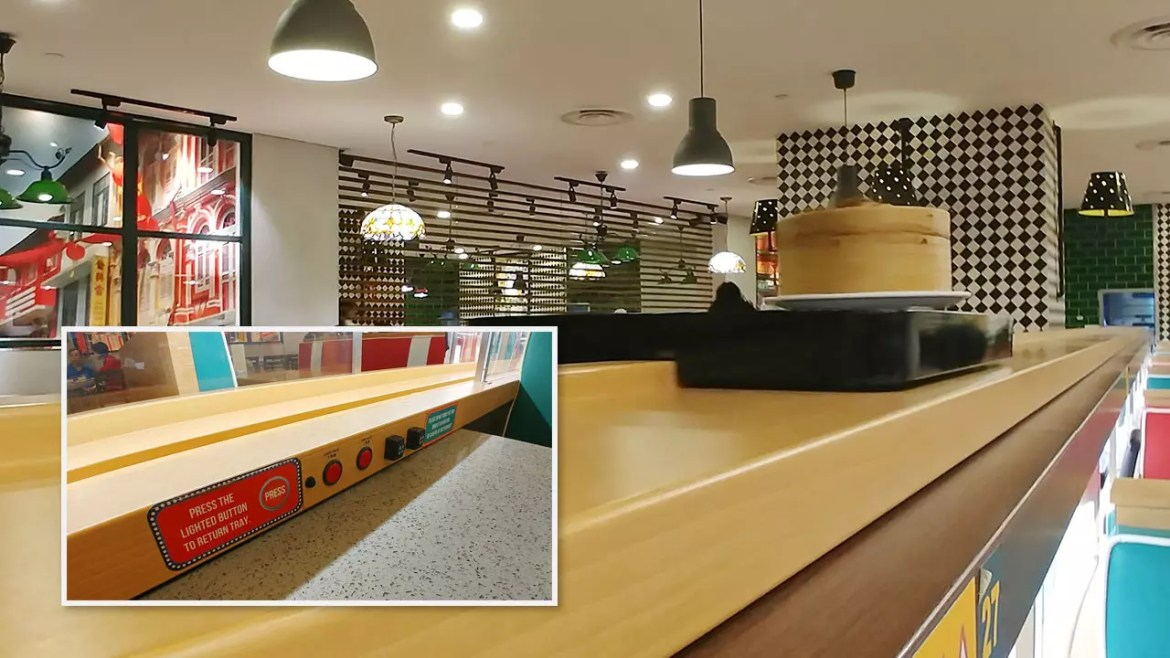 Tunglok Teahouse Square 2 Automated Tray Delivery Solution