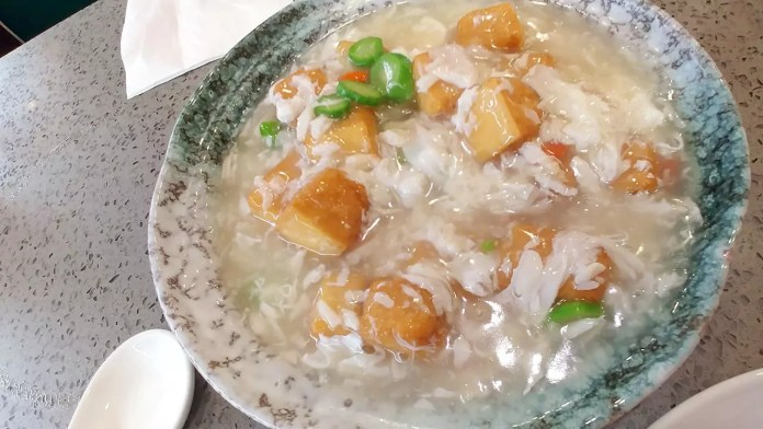 Tunglok Teahouse Review | Deep Fried Beancurd Cubes with Crab Meat Sauce