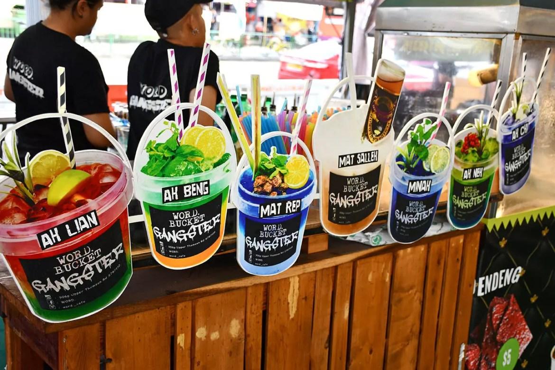 Bucket Gangster drinks at Geylang Serai Food Bazaar 2018.