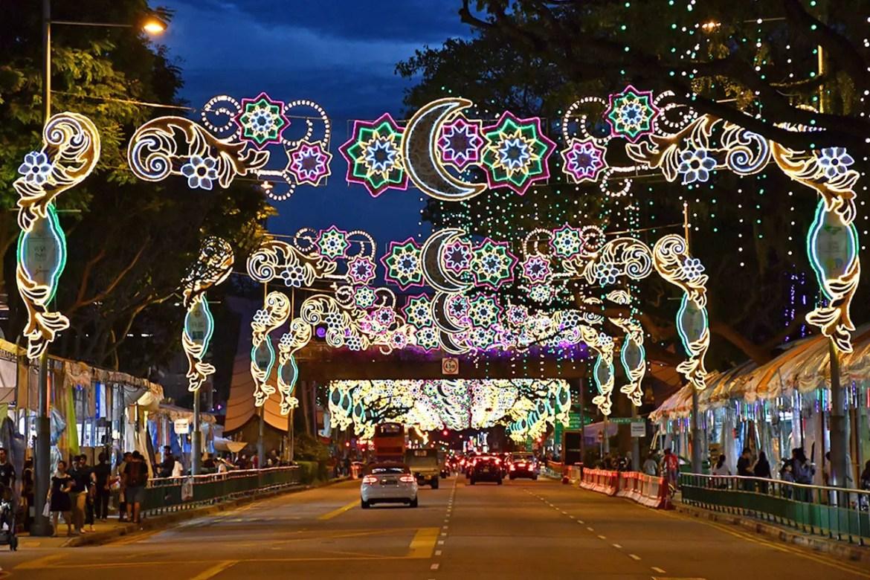 Geylang Road during Geylang Serai Festive Light-Up 2018