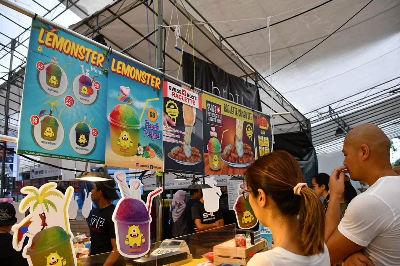 Raclette Rosti and Lemonster Stall at Geylang Serai Bazaar 2018.