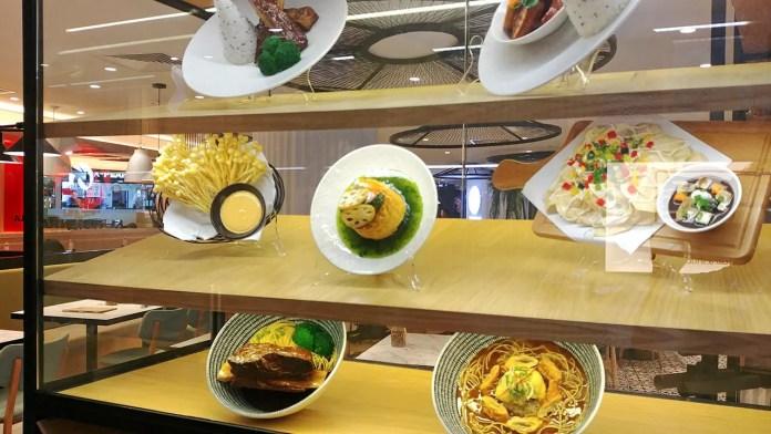 Typhoon Taiwanese Café Plastic Food Display.