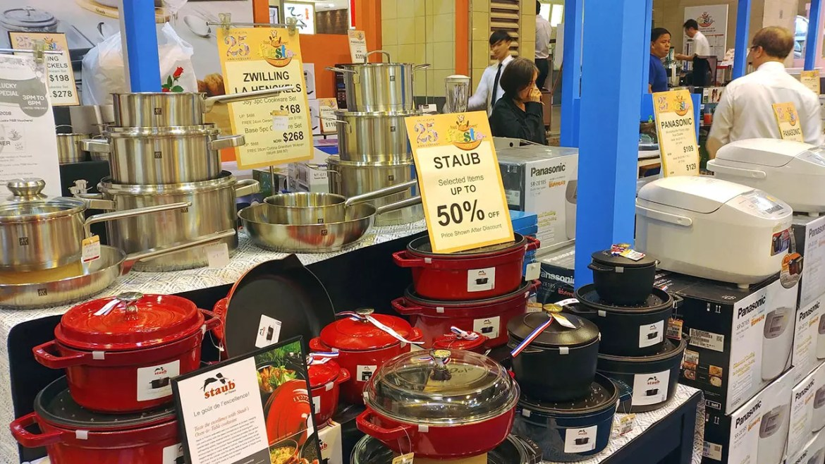 Kitchen Equipment on sale at Ngee Ann City.