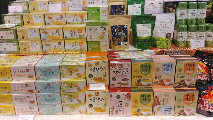 Exotic Korean Tea at Takashimaya Square.