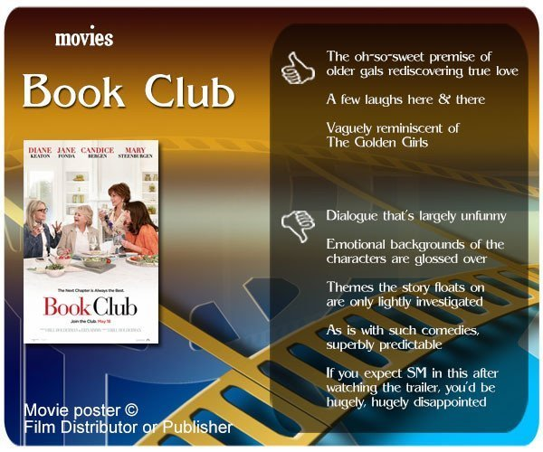 Book Club (Film) review - 3 thumbs up and 5 thumbs down.
