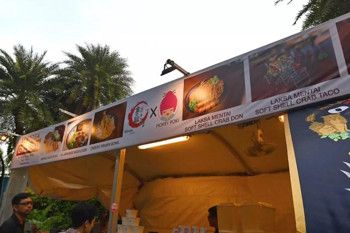 Kinsa Sushi X Hokey Poki at Sentosa GrillFest 2018.