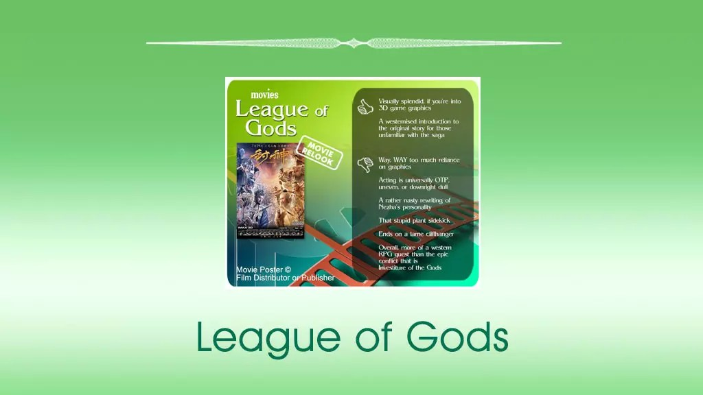 League of Gods (封神传奇) movie review