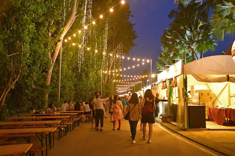 Sentosa GrillFest 2018 evening shot.