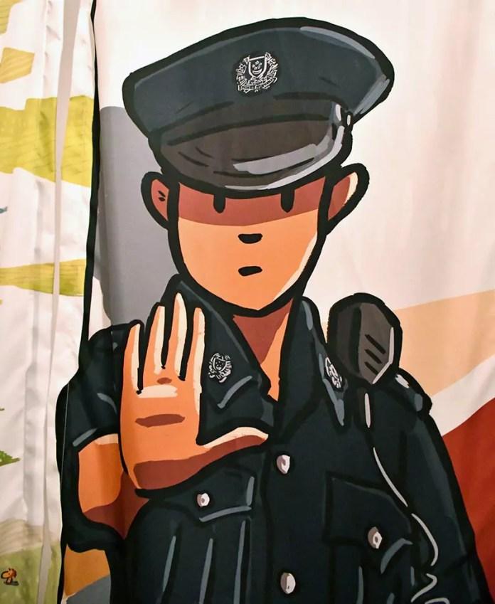 Friendly Singapore Policeman.