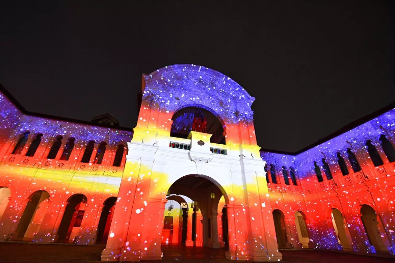 Singapore Night Festival 2018 Light Projection Show.