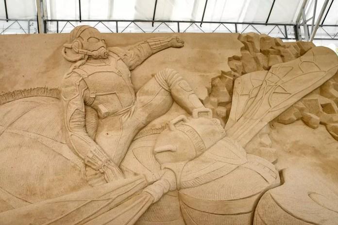 Ant-Man Sand Sculpture.