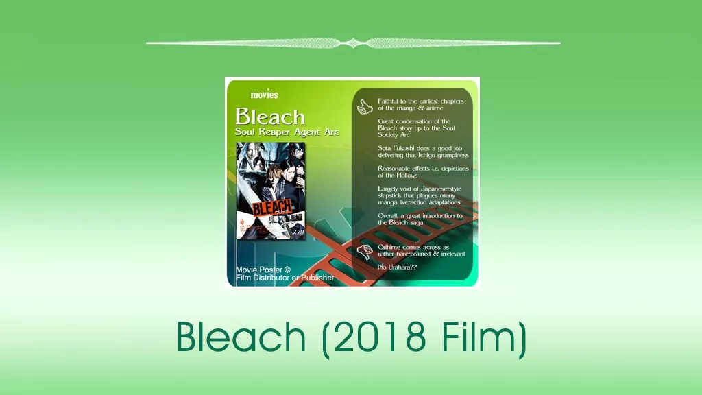 Bleach (2018 Film) Review