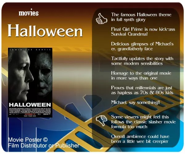 Halloween 2018 Movie Review: 7 thumbs up and 2 thumbs down.
