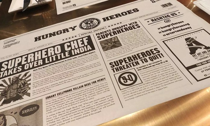 Hungry Heroes Table Covers