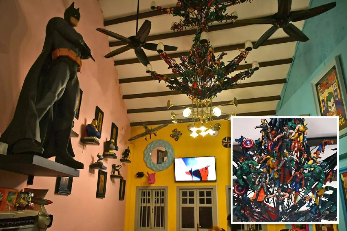 Hungry Heroes Upper Level and Figurine Chandelier