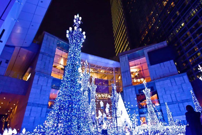 Shiodome Caretta Illumination 2018