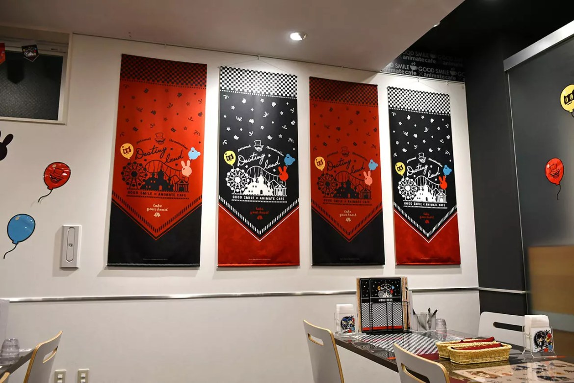Persona 5: the Animation Café Wall decorations.