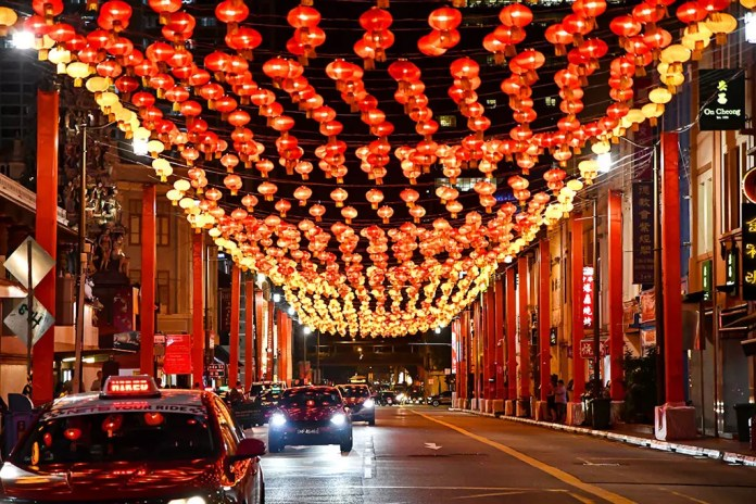 South Bridge Road Chinese New Year decorations.
