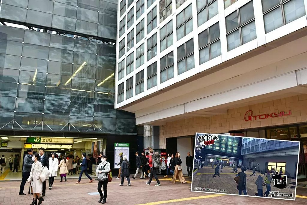 Persona 5 Shibuya Sights | Shibuya Station Hachikō-mae Square Entrance