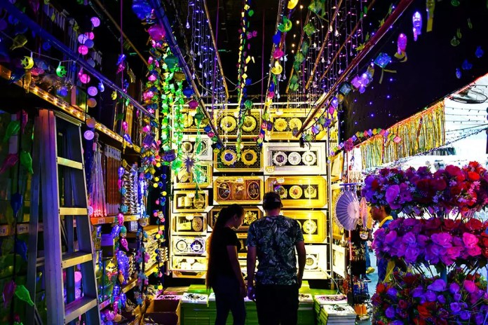 Hari Raya Bazaar LED Decorations Stall.