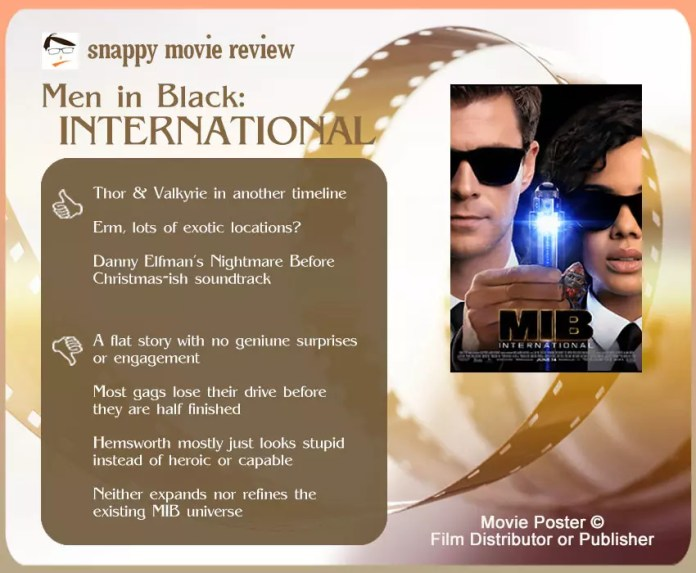Men in Black: International Movie Review | 3 thumbs-up and 4 thumbs-down.