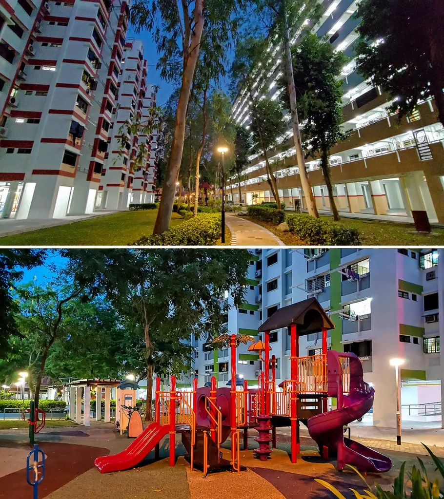 HDB Blocks in Singapore.