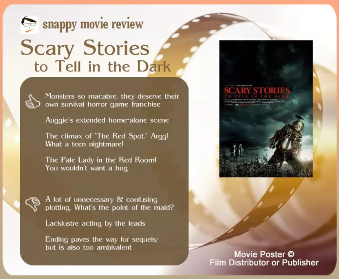Scary Stories to Tell in the Dark (Film) Review: 4 thumbs-up and 3 thumbs-down