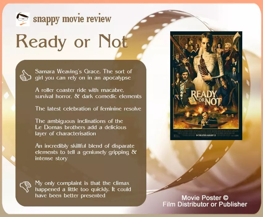 Ready or Not Review: 5 thumbs-up and 1 thumbs-down