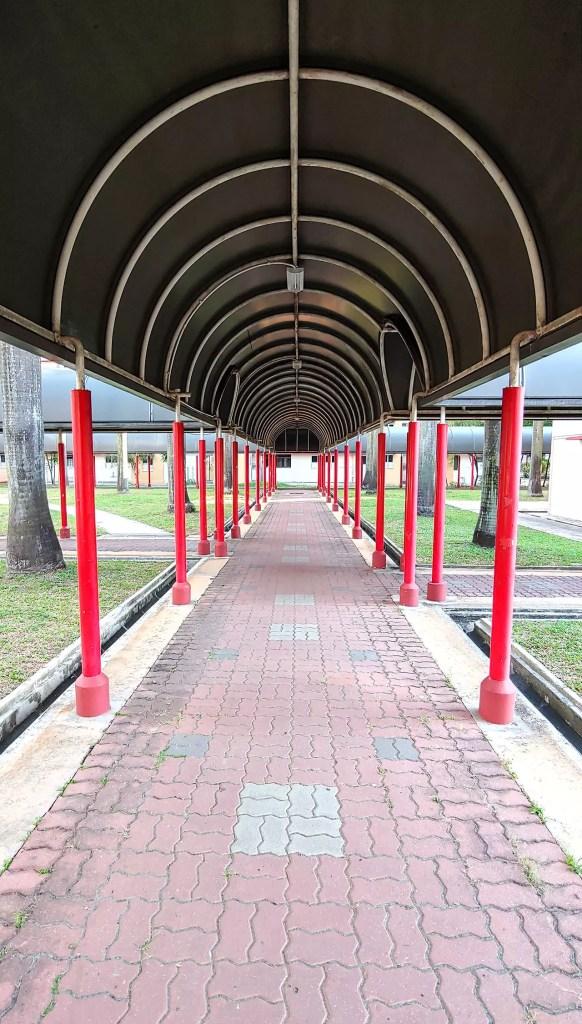 Deserted corridor at Redhill Close