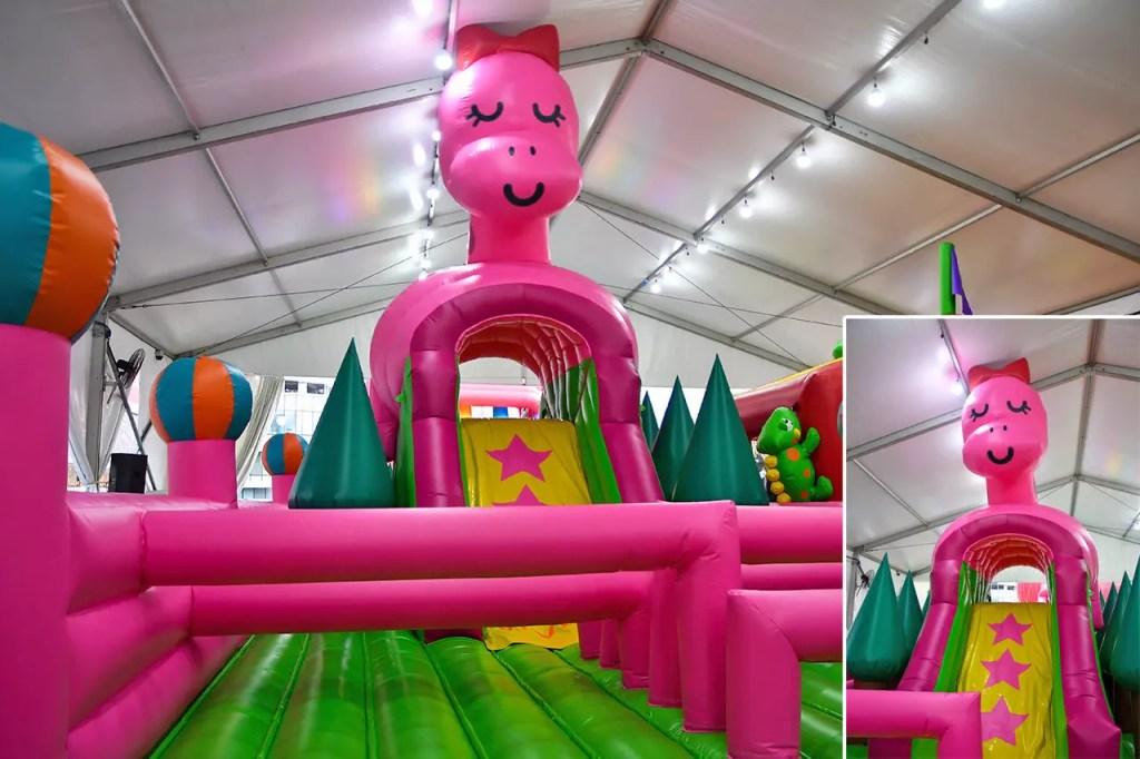 VivoCity Inflatable Playground.