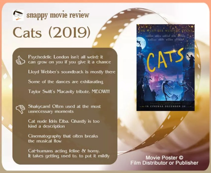 Cats (2019 Film) review: 4 thumbs-up and 4 thumbs-down.