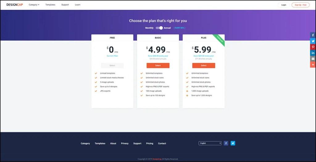 DesignCap Prices