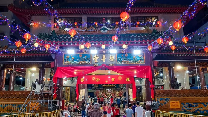 Kwan Im Thong Hood Cho Temple on Chinese New Year's Eve 2020.