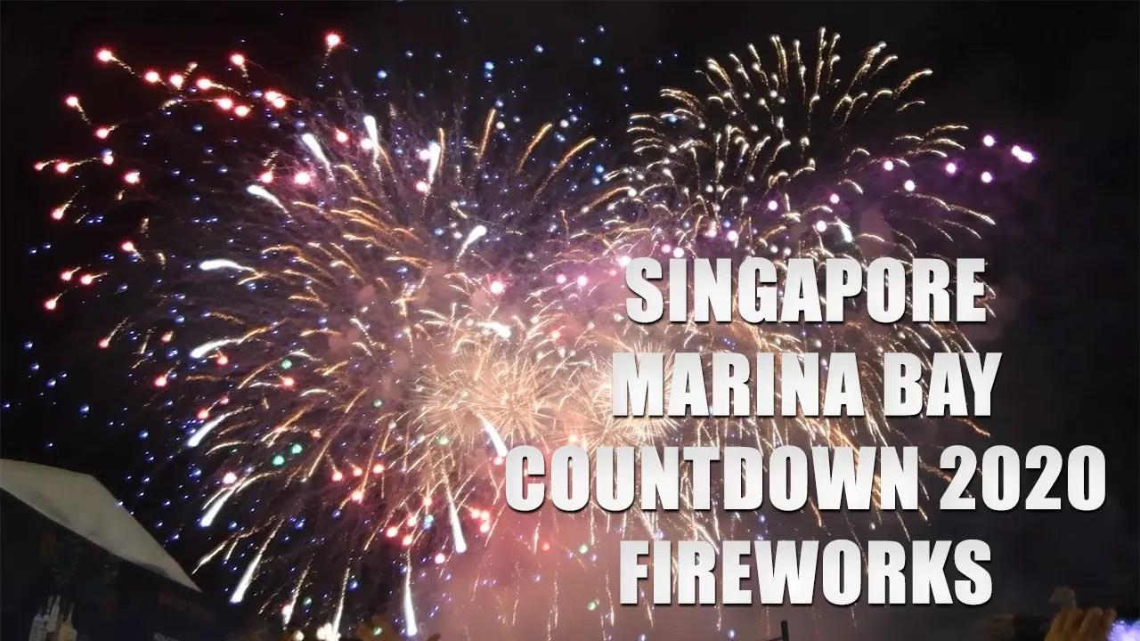 Marina Bay New Year Fireworks 2020