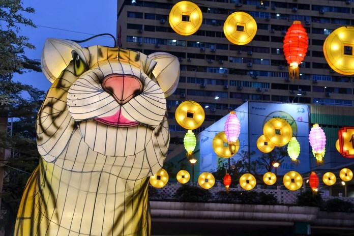 Chinese Zodiac Tiger at Chinatown, Singapore.