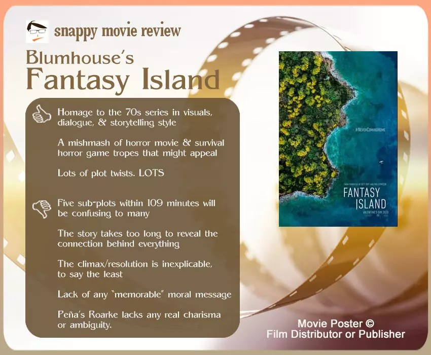 Blumhouse's Fantasy Island Movie Review: 3 thumbs up and 5 thumbs down.