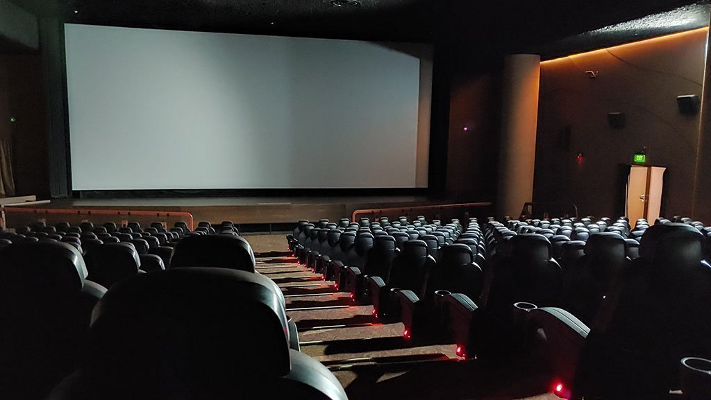 Shaw Lido Hall 1 after cinemas reopened in July 2020.