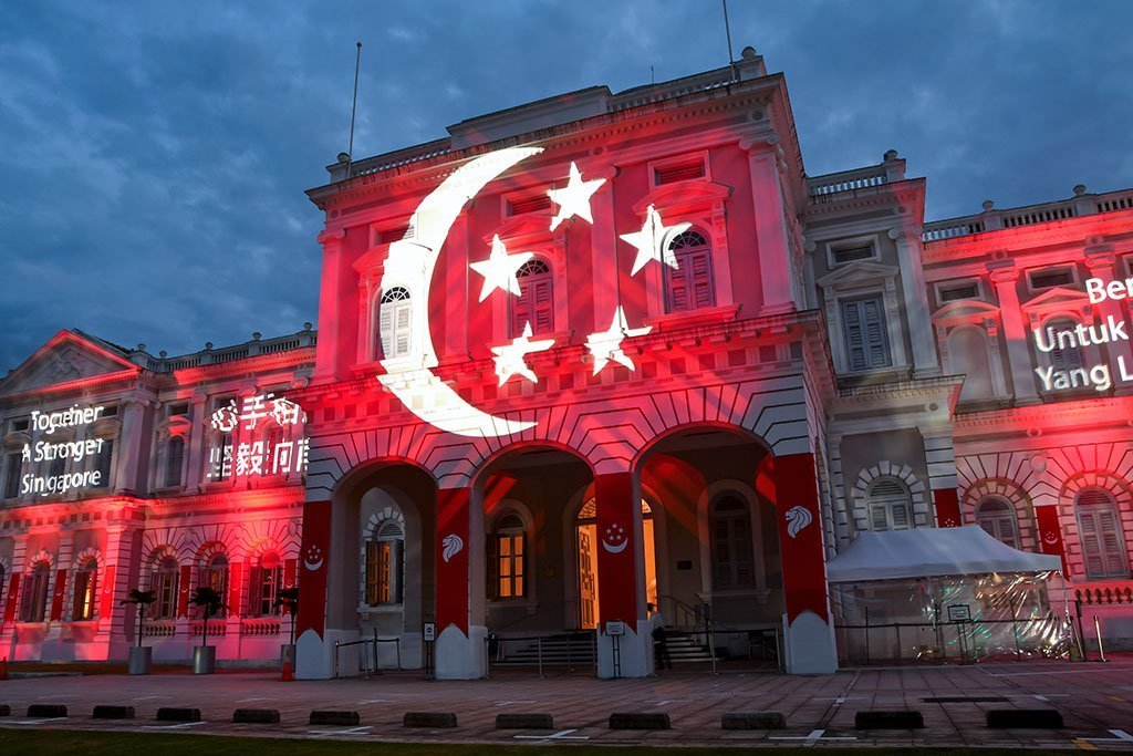 National Museum of Singapore National Day Light-Up.