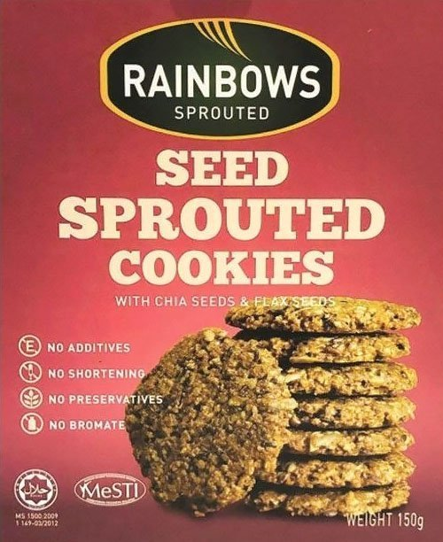 Rainbows Sprouted Black Sesame Sprouted Cookies.
