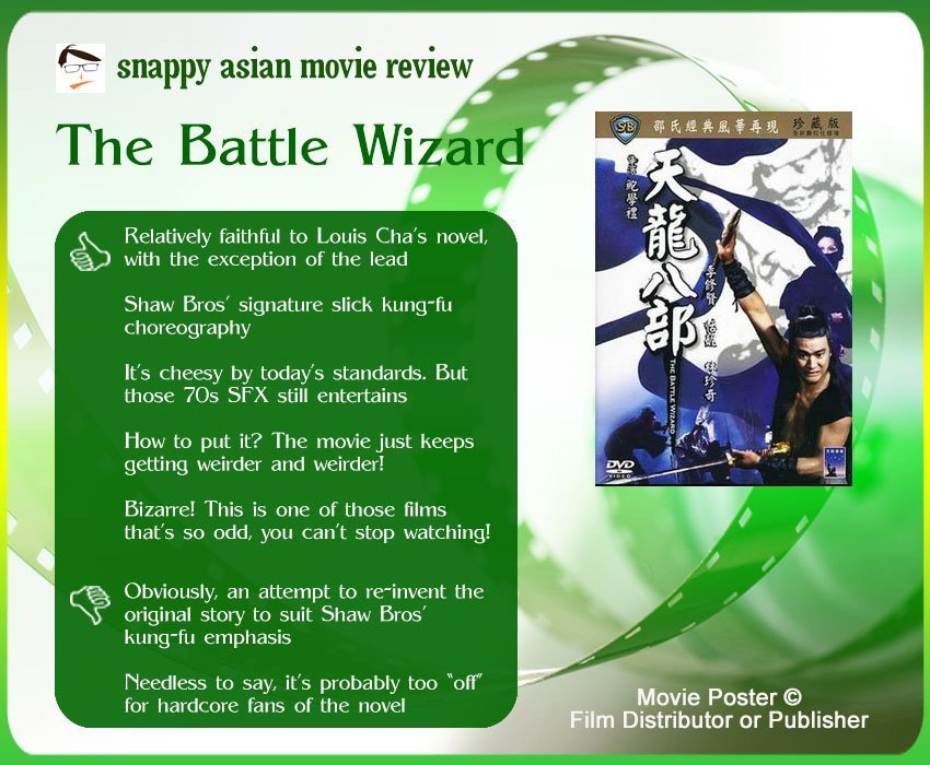 The Battle Wizard (天龍八部) Review: 5 thumbs-up and 2 thumbs-down.