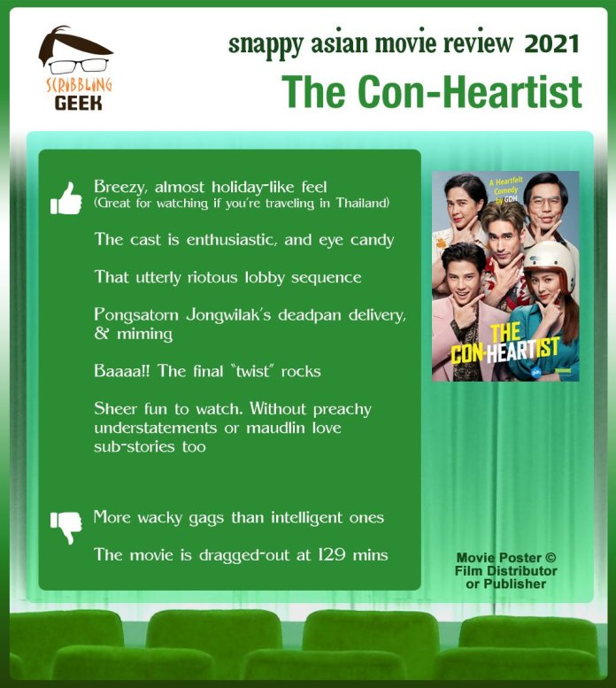 The Con-Heartist Movie Review: 5 thumbs-up and 2 thumbs-down.