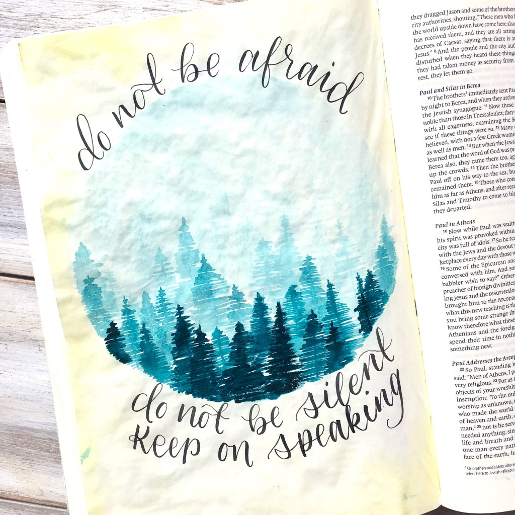 Bible Journaling with Watercolor - 4 Basic Tips - Scribbling