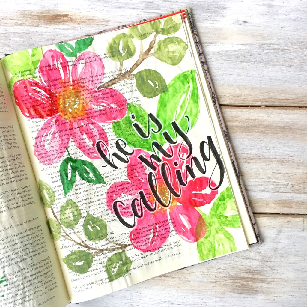 Bible Journaling With Me Simple Watercolor Floral Tutorial