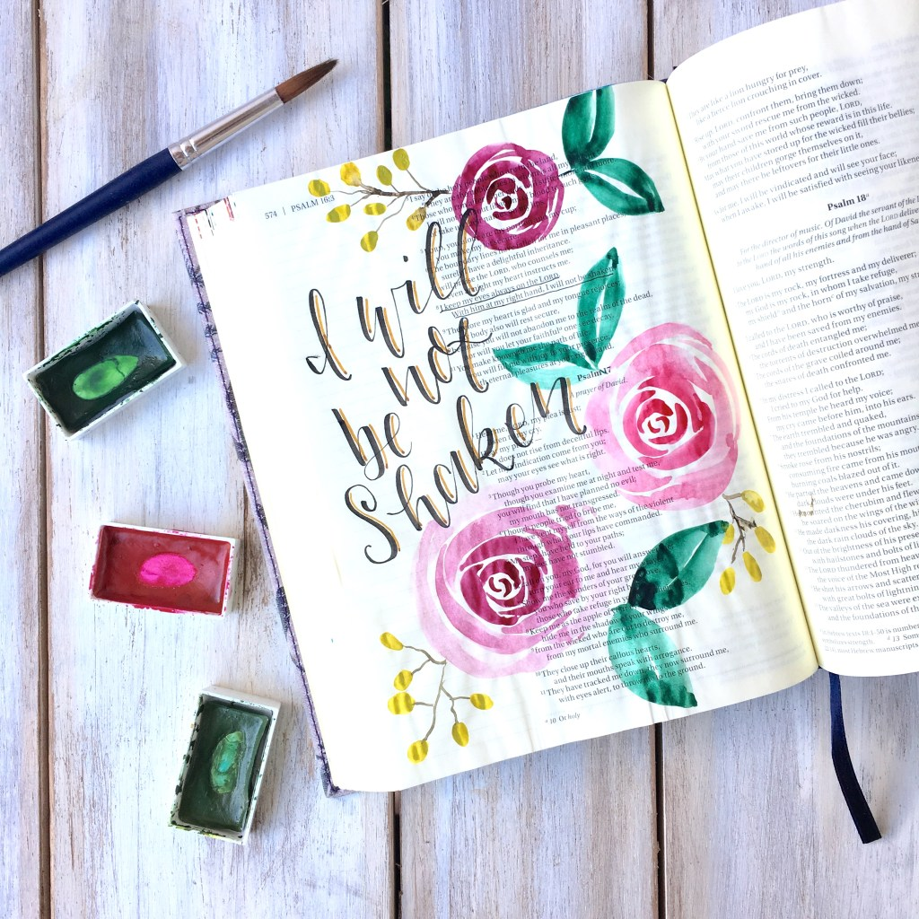 Bible Journaling With Me Watercolor Roses Tutorial Scribbling Grace