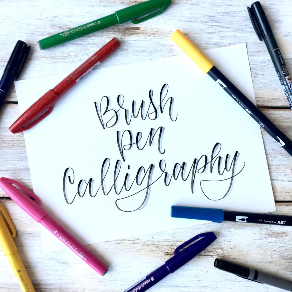 Brush Pen Calligraphy Basics Plus Free Printable Practice