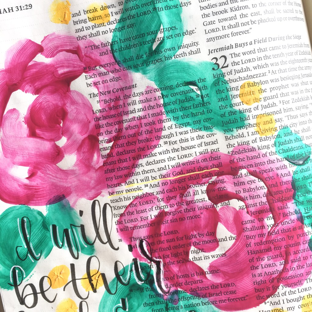 Learn three fun and unique techniques to try in your Bible journaling! Bubble painting, finger painting, and smoosh painting! Let's have a blast spending time in the word!